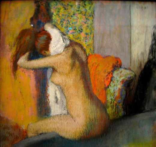 """Woman at Bathtub"", by Degas"