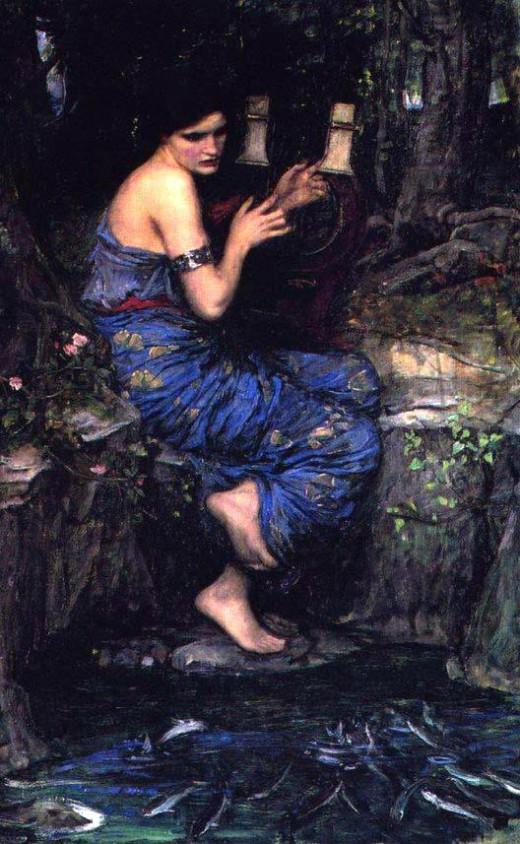 """""""The Charmer"""", by J. W. Waterhouse"""