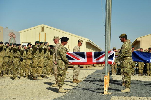 We're off again - where to this time? British troops furl the flag at Camp Bastion