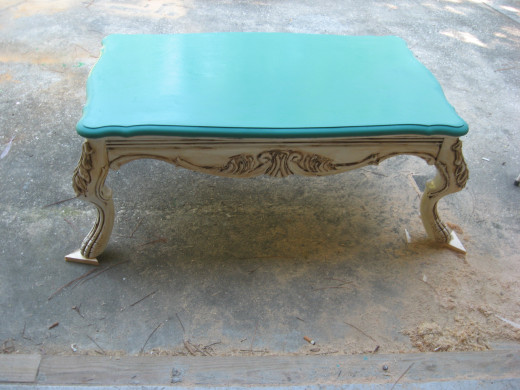 Antiqued Coffee Table