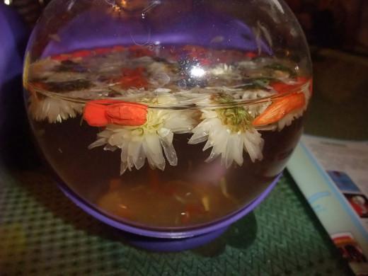 Homemade herbal tea seeping.