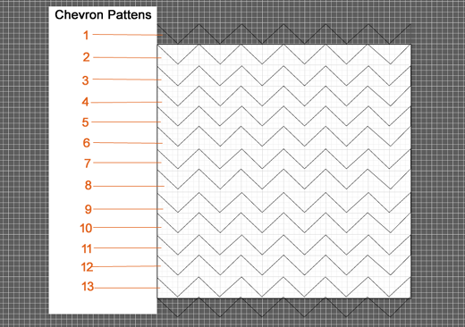 All Chevron Patterns When Arranged