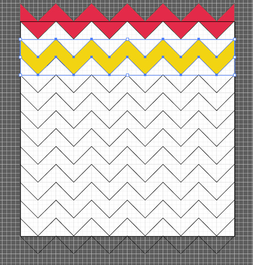 1st and 3rd Chevron Patterns With Color