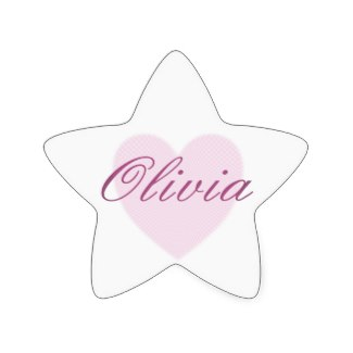 Buy this Christmas star for Olivia or choose from a whole host of name gifts for Olivia here