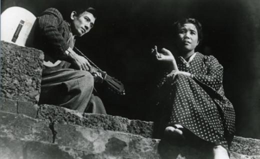 Keiji Sada and Yûko Mochizuki in Kinoshita's A Japanese Tragedy (1953)