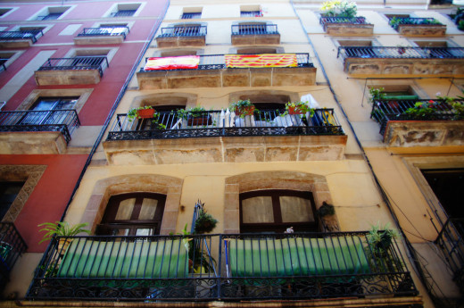 Typical housing in a Spanish city