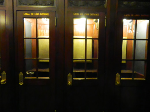 Old time phone booths