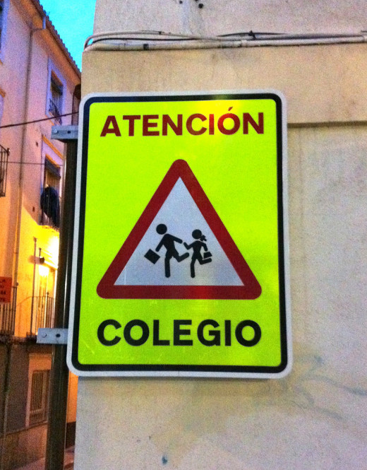 School crossing in Spain