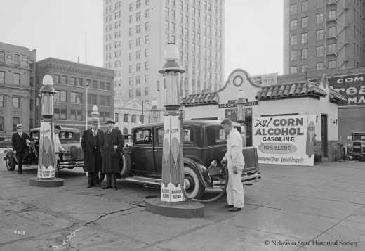 Corn Ethanol Gas Station