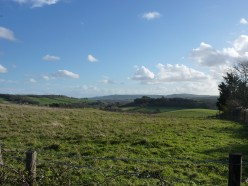 Walking and exploring on the Isle of Wight #1- A cross-solent view, a castle, and Lord Tennyson