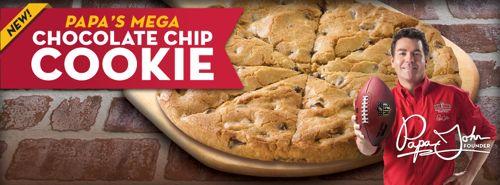Papa John's Mega Cookie