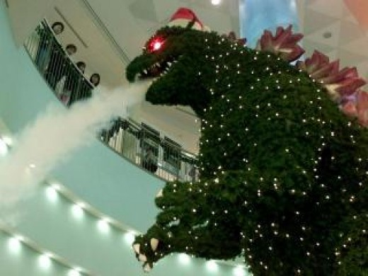 Japanese Christmas traditions wouldn't be complete without a Christmas Godzilla!