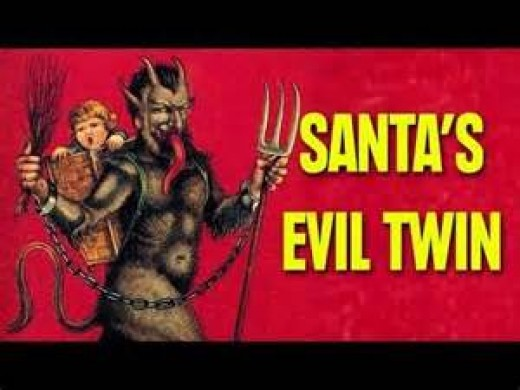 Krampus is Santa's evil twin who punishes the bad children in Germany