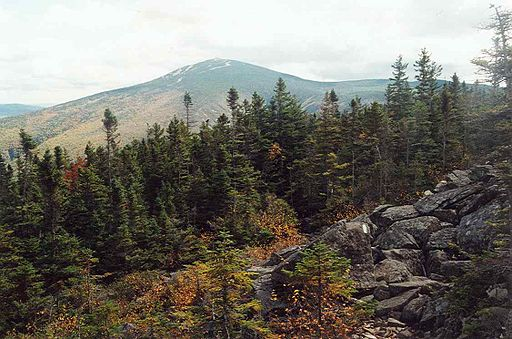 A view of Sugarloaf Mountain, near Stratton, Maine.