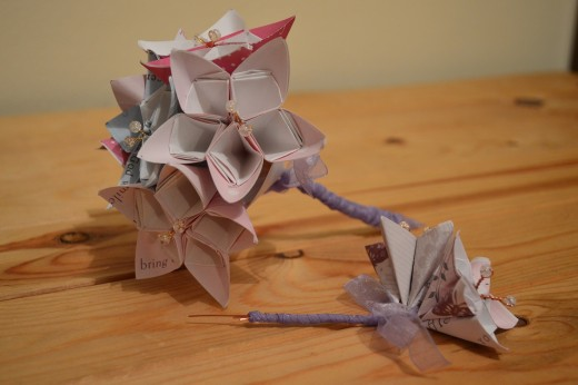 Make your own shabby chic bouquet and buttonholes from up-cycled greeting cards