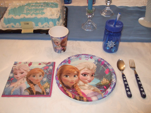 A nice close up of one Frozen place setting...