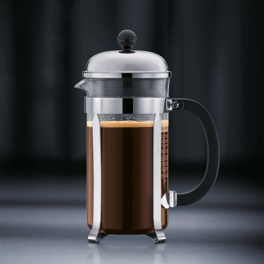 A French Press Coffee Maker.