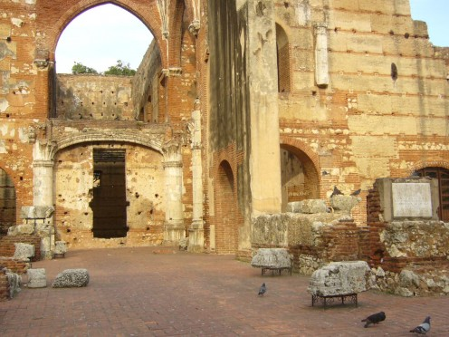 Ruins  of the Hospital Nicolas di Bari  the first in the Western Hemisphere in Colonial Santo Domingo