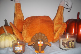 A shrine for a special turkey.