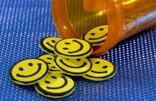 The fake happy pill