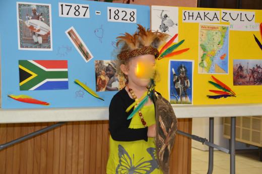 Shaka Zulu costume and presentation