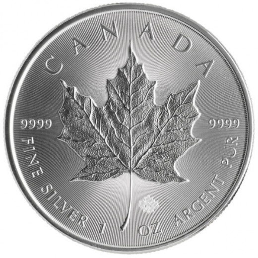 2014 Silver Maple Leaf - this coin is 1 ounce of 99.99 percent pure silver.