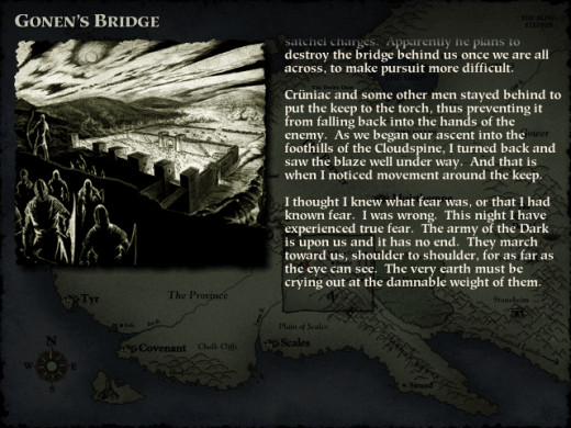 The story of Myth 2 is told primarily through journal entries.