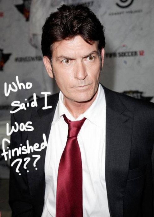 Because we all know what kinda man Charlie Sheen is....
