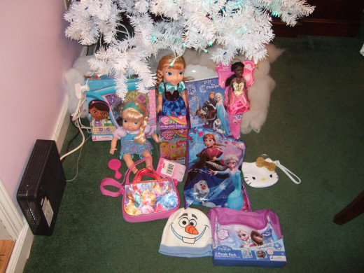 Most of her presents.
