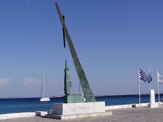 Statue of Pythagoras in Samos, Greece