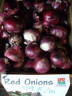 Red onions, sliced think and sauteed, are so great on a grilled cheese sandwich!