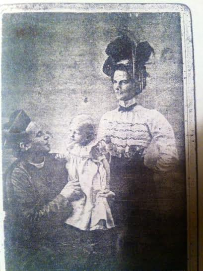 Left to right: Father LaForest; my mother, Odile Melchior; and my grandmother, Florina Grenier Melchior,