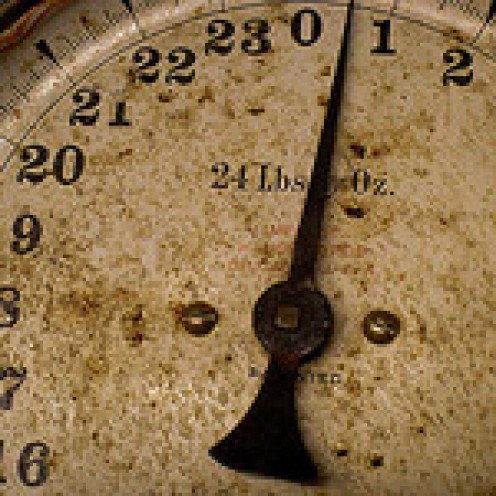 Antique scale: Can aspirin help with weight loss?  The jury is still out.