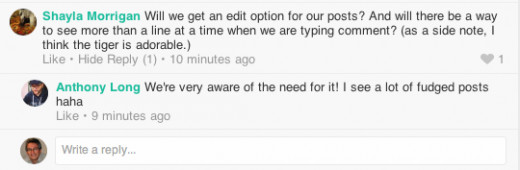 Example of Software Engineer Anthony Long responding to help query