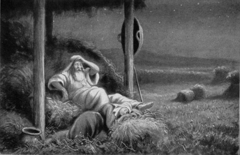 """"""" 'Who are you?' he asked.  'I am your servant Ruth,' she said. 'Spread the corner of your garment over me, since you are a kinsman-redeemer.' """""""