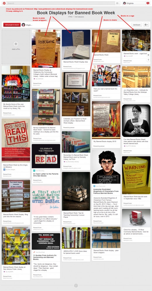I created a pinboard to save the great ideas I was finding on Pinterest and other places online. There are lots of librarians there that you can follow.