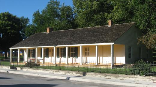 The Creole House, Prairie du Rocher, Illinois.
