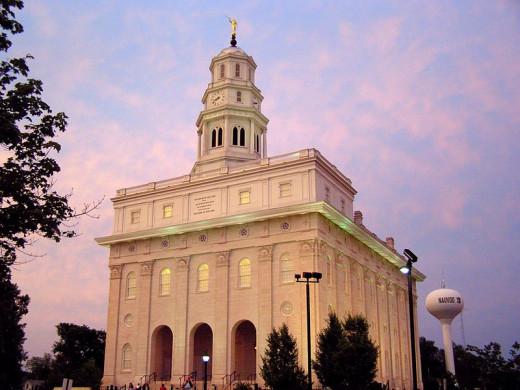 Rebuilt Nauvoo Temple, Nauvoo, Illinois.