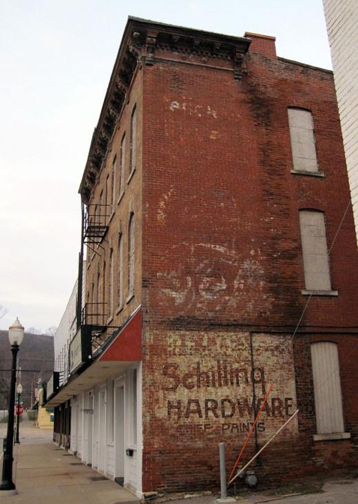 Old building, Dubuque, Iowa.