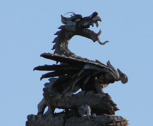 Dragon in Cardiff.