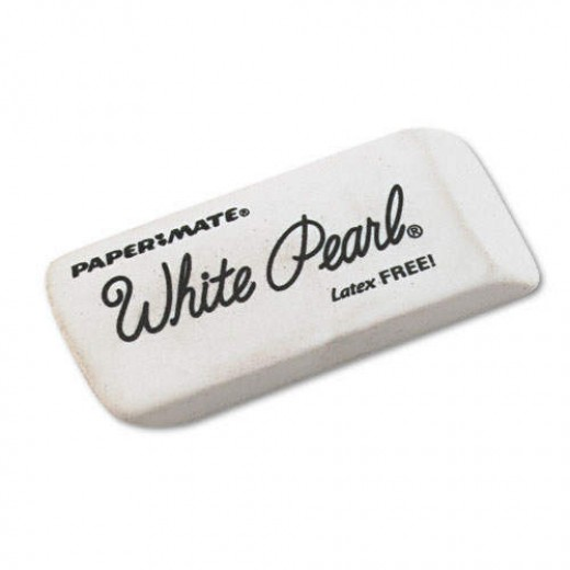 White Pearl... A Cheap yet decent choice for white erasers.
