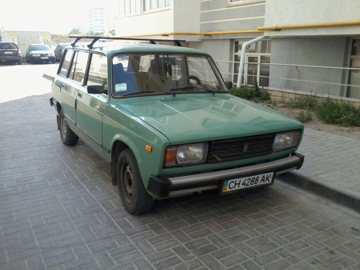 Lada 2103 station wagon, an indestructible car - made for heavy loads, heavy pulling and bumpy roads.