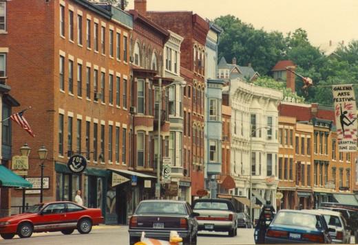 Main Street, Galena, Illinois.