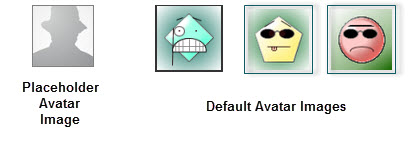Sample Default Avatar Images