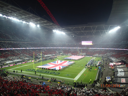 Wembley Stadium pre-game for the Jaguars vs. Cowboys