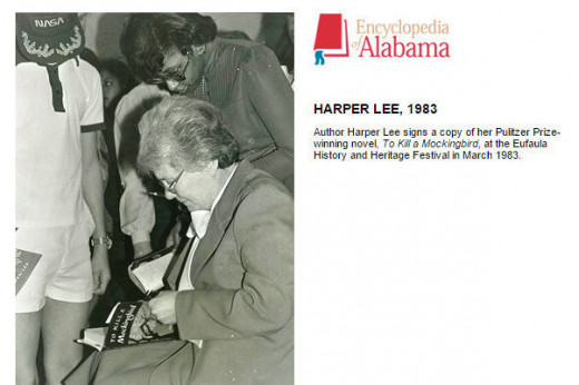 Nelle Harper Lee at a book signing