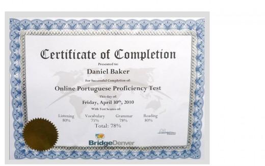 Daniel's Certification