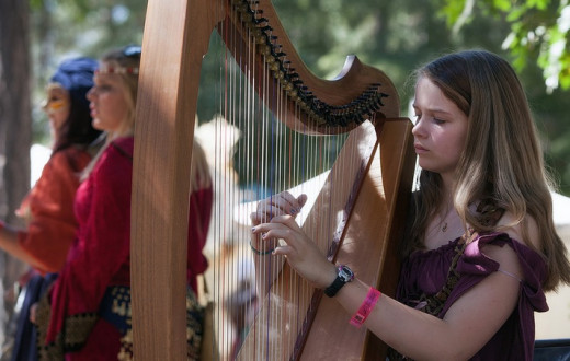 Pacu eloquently played heavenly music for the wedding guests on her awesome harp.