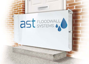 Simple but cost effective and insurance approved flood protection system