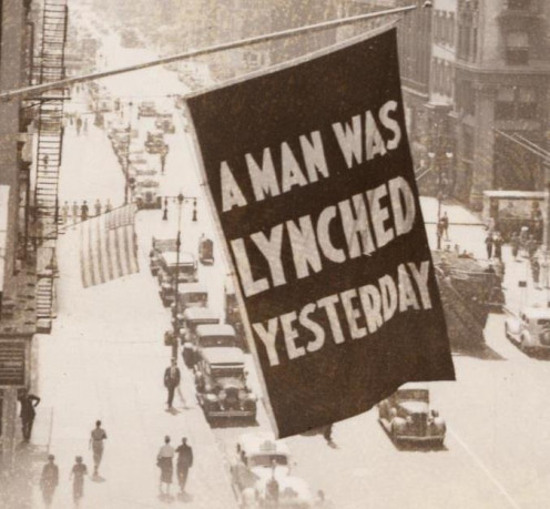 The flag hung in Harlem -- from the offices of the NAACP during the 1930s -- whenever news of a lynching was received.